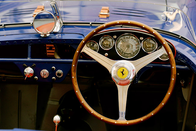 1954 Ferrari 500 Mondial Spyder Interior