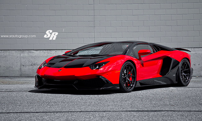 SR Auto Lamborghini Aventador LP720 in Red and Black Theme