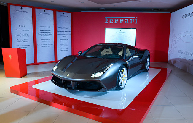 Singapore Celebrates the Premiere of the Ferrari 488 GTB