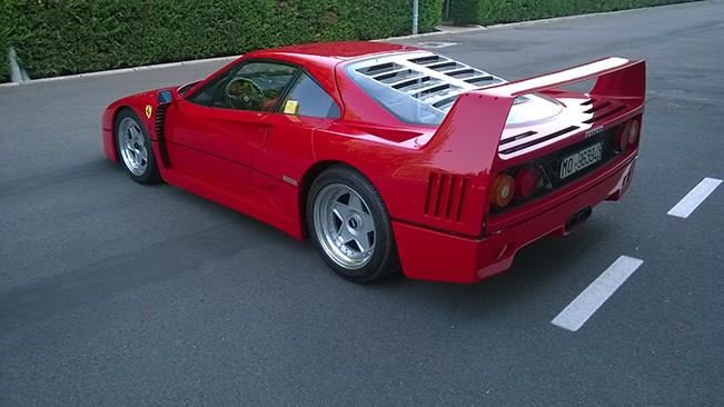 1992 Ferrari F40 Rear Angle