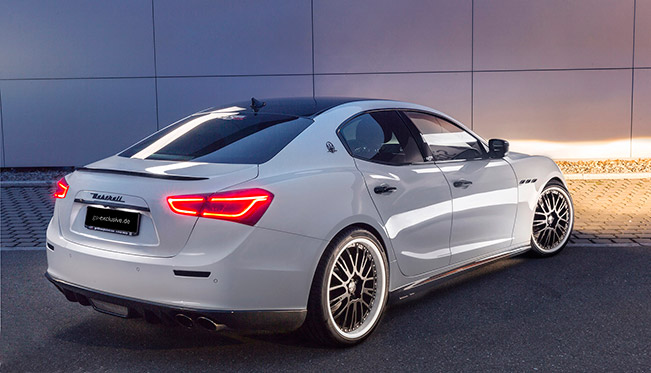 2015 GS Exclusive Maserati Ghibli EVO Rear Angle