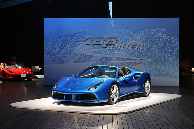 Japan Celebrates the Premiere of Ferrari 488 Spider