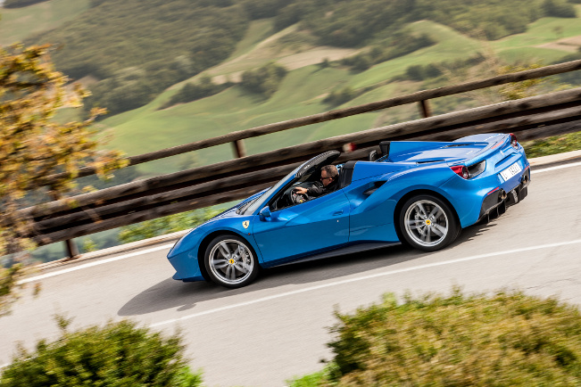 Ferrari 488 Spider on the Roads of Emilia-Romagna
