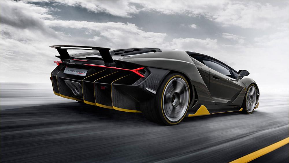 2016 Lamborghini Centenario Rear Angle